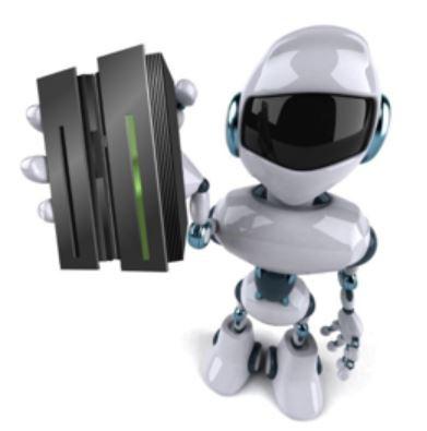 rpa-robot-holding-server