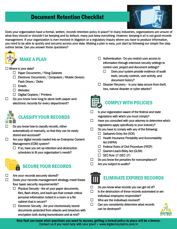 Document-Retention-Checklist