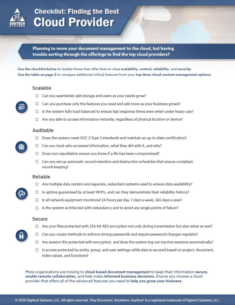 cloud-provider-checklist
