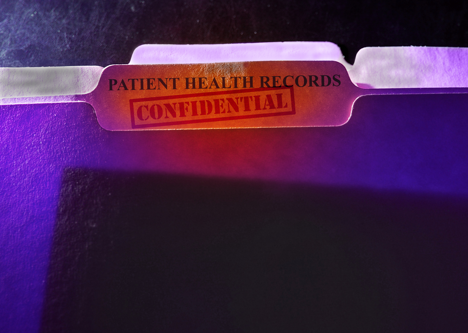 Confidential patient health records folder
